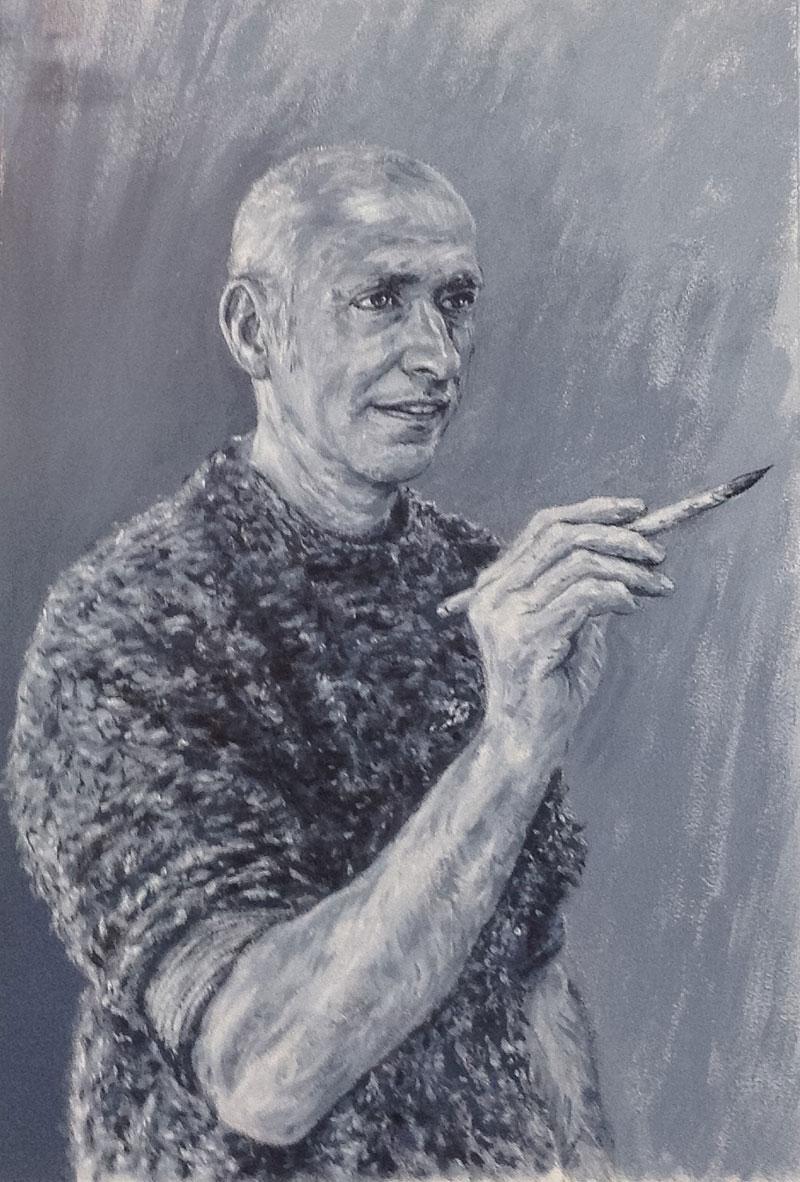 Self portrait of John Crush