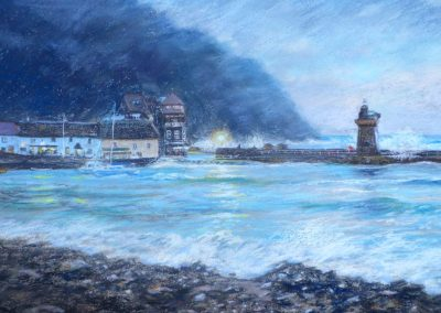 Stormy sea at Lynmouth
