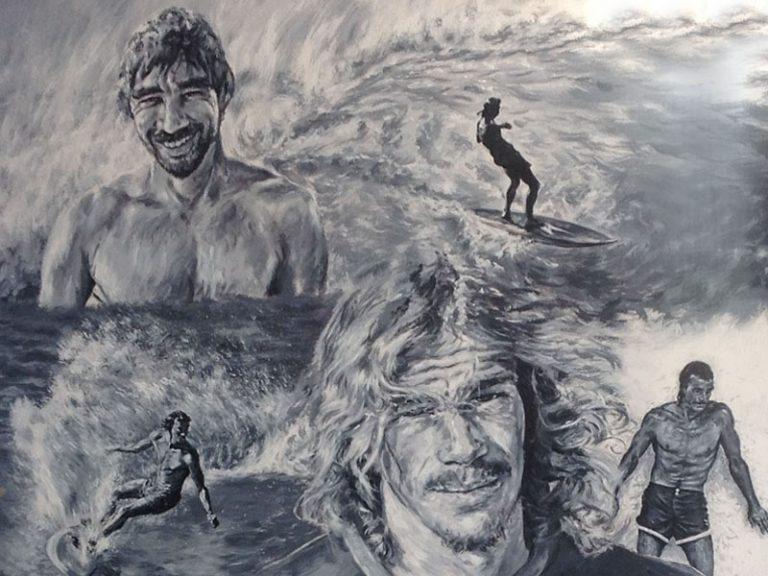 Baggys Cafe Surfer Mural